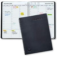 Agenda 2020 2021 con Vista Semanal – Planificador 2020 2021 Semana Vista – Diario Espiral que Inspira Productividad - Intervalos de 30 minutos - Julio 2020 a Agosto 2020, Calendario A5, en Español