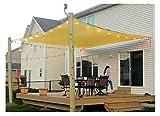 diig Patio Sun Shade Sail Canopy, 6' x 8' Rectangle Shade Cloth UV Block Sunshade Fabric - Outdoor Cover Awning Shelter for Pergola Backyard Garden Yard (Sand Color)