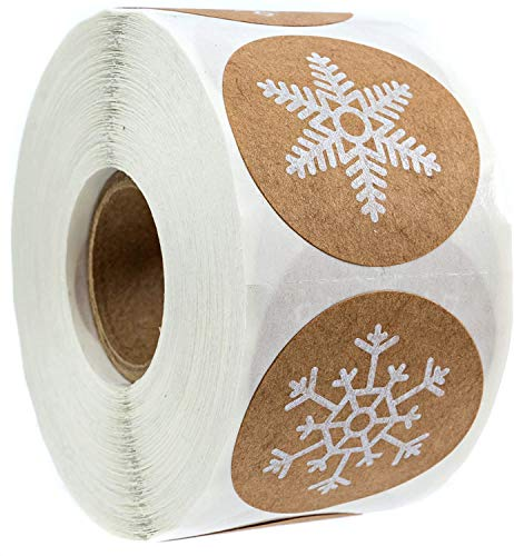 Multiple Snowflakes Christmas Stickers