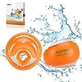AGPTEK Aufblasbare Armbinde Kind Armschienen Aufblasbare Ringarm Schwimmbecken für Baby, Schwimmen Boje Wasser Training Flügel für Kinder 3-14 Jahre, 19-40 kg mit aufblasender Pumpe, Orange
