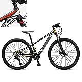 Bicicleta de montaña de 29 pulgadas, cambio de velocidad preciso, la cadena no es fácil de caer, estable y segura, adecuada para ciclistas con una altura de 59 pulgadas a 74.8 pulgadas,Black yellow