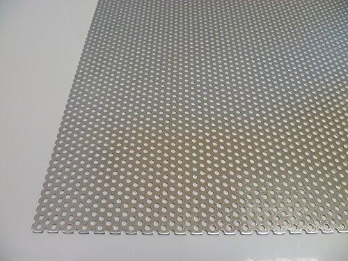 B&T Metall Aluminium Lochblech 1,0 mm stark Rundlochung Ø 3 mm versetzt RV 3-5 Größe 300 x 400 mm (30 x 40 cm)