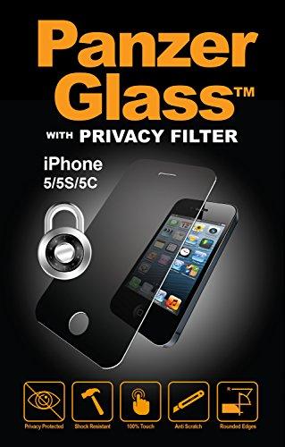 PanzerGlass PRIVACY Bildschirmschutzglas (Mit Sichtschutz); passend für Apple iPhone 5/5S/5C/SE, Klar