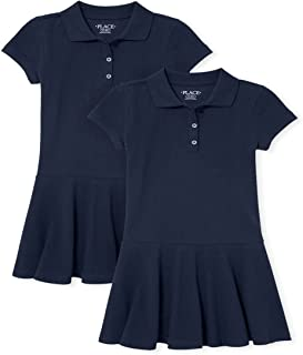 The Children's Place girls Uniform Pique Polo Dress 2-Pack Dress