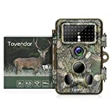 Tovendor Trail Cameras with Night Vision Motion Activated Waterproof, 20MP No Glow Game Camera with 3 Infrared Sensors 120 Degree View for Wildlife Hunting/Watching, Fast 0.2s Trigger Time