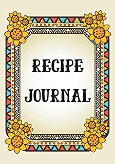 Recipe Journal: Recipe binder: Elegant recipe holder to Write In Recipe cards, chic Food Graphics design, Document all Your recipe box and Notes for ... recipe notebook, 100-Pages 7