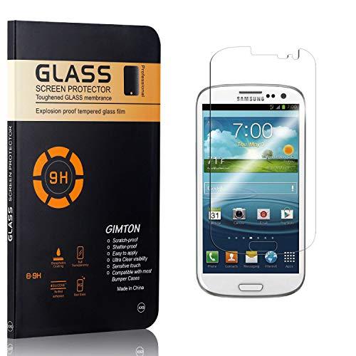 GIMTON Displayschutzfolie für Galaxy S3, 9H Härte, Blasenfrei, Anti Öl, Ultra Dünn Kratzfest Schutzfolie aus Gehärtetem Glas für Samsung Galaxy S3, 3 Stück
