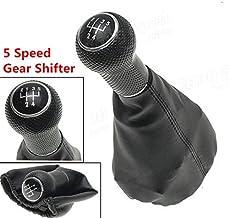 BEESCLOVER - Palanca de Cambios de Piel sintética de 5 velocidades MT para Volkswagen VW Golf MK4 Bora Polo para Seat Cordoba Inca Ibiza