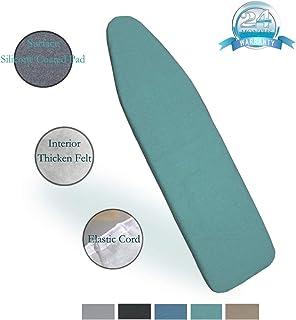 DOWE 137 cm x 38 cm Resistencia al Calor Cubierta metálica de la Tabla de Planchar Material de Fieltro Duradero Tamaño estándar Opciones multicoloras