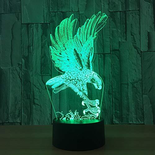 Mirs lámpara LED 3D iluminación pájaro águila lámpara de mesa de escritorio USB chico luz nocturna 3D para amigos regalo de Navidad