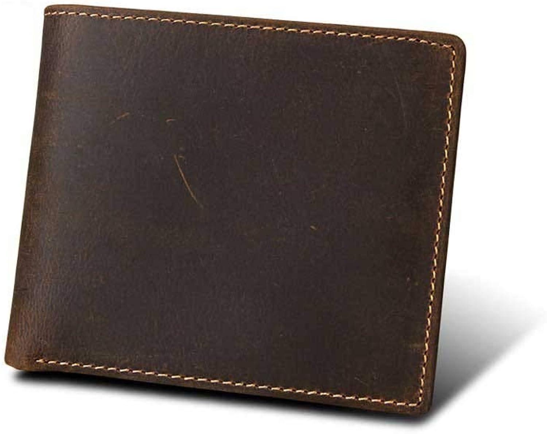 LMSHM Kurze Brieftasche Für Herren Männliche Männliche Männliche Geldbörse Der Männlichen Geldbörse Der Männer,Kaffee,11.5  9.5  2.5Cm B07M8KXRPW f210d1