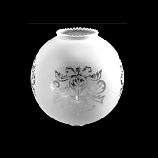 Tulipa cristal redonda grabada 120mm diámetro boca 55mm - Accesorios para lámparas