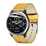 NONGLAN Reloj Elegante ECG De Ritmo Cardíaco del Sueño Monitor De 3D Ui Multideporte Rastreador De Ejercicios Impermeable Smartwatch(Color:Amarillo)