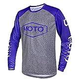 Wisdom Wolf Camiseta de ciclismo de manga larga para hombre, transpirable, secado rápido, absorbe la humedad