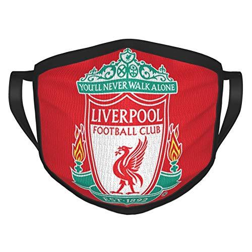 Nicegift Liver-Pool F.C. Adult Black Border Mask-Portable Face Protection-Bandana-Elastic Edge-Balaclava 8x6 inch