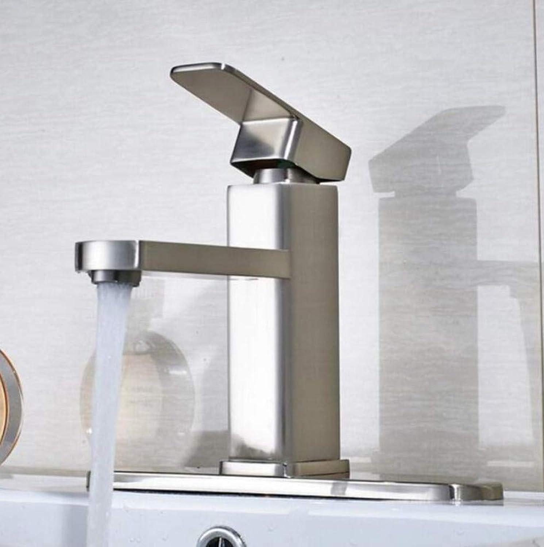 Brass Wall Faucet Chrome Brass Faucet Mixer Wholesale and Retail Bathroom Sink Faucet Single Handlehole Mixer Tap Oil Rubbed Bronze
