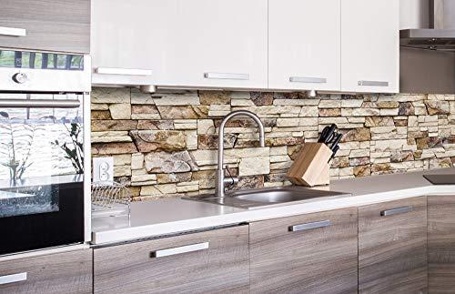 DIMEX LINE Sticker crédence - Cuisine Mur DE Pierre 260 x 60 cm | Crédences adhésives