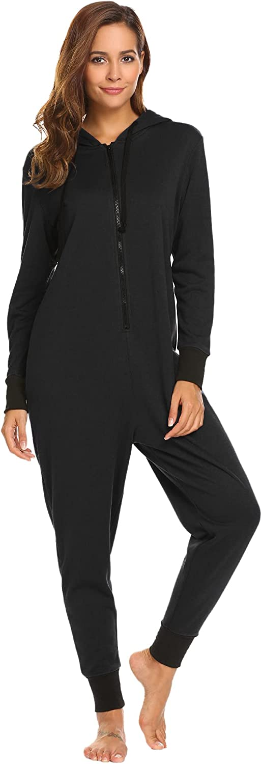 Ekouaer Fixed price Store for sale One Piece Pajamas Womens Long Non Sleeve Footed Onesies