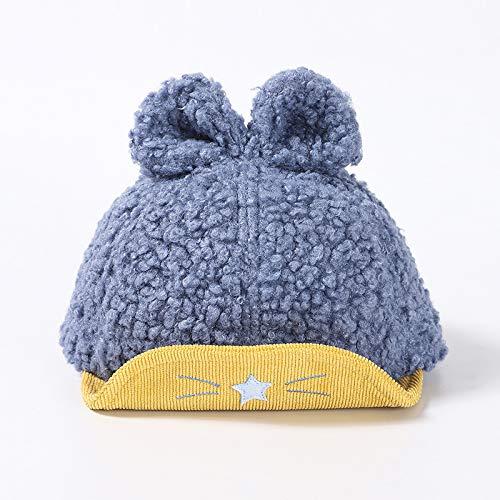 Gorros con Visera para niños versión Coreana de Felpa Engrosamiento cálido bebé niño Sombrero de Invierno Lindo Lazo Princesa Femenina Sombrero para niños
