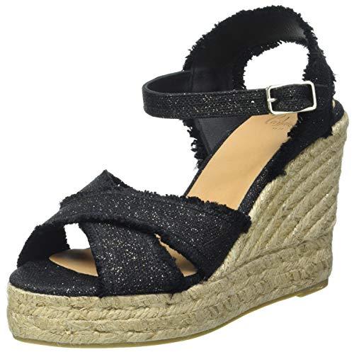 Castañer BROMELIA, Zapatillas Mujer, Negro/Oro, 39 EU