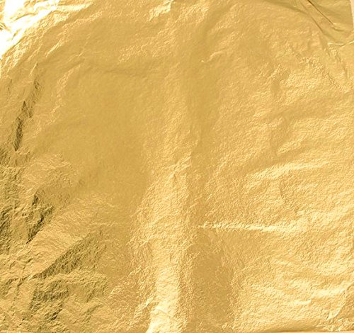 Magic-Elefant Blattgold Schlagmetall 100 Blatt - Format 14 x 14 cm (Imitat) Farbe Gold