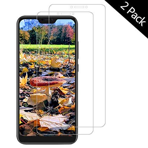 OUJD Protector Pantalla para Xiaomi Redmi 6A ( Paquete de 2 ) - Redmi 6, Cristal Vidrio Templado Premium