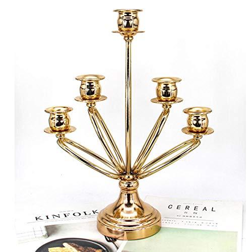 Metall Kerzenstã¤Nder 5 Arme Kerzenständer In in Gold Höhe 13.79in/35cm Kerzenständer mit Deko für Weihnachten Hochzeit Home Decor