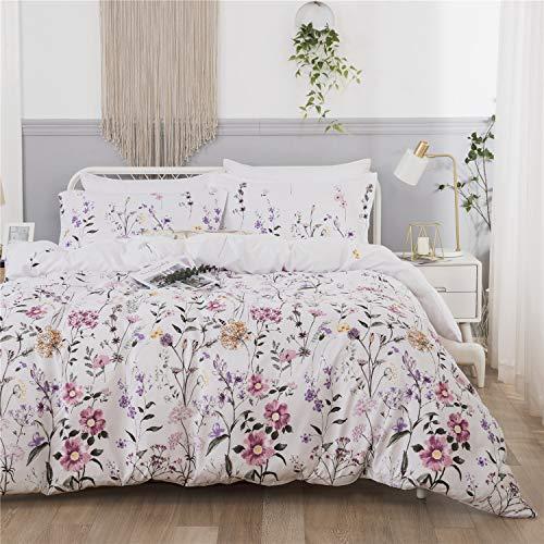 Juego de funda de edredón Botanical para cama individual, 2 piezas, d