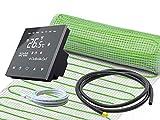Elektrische Fußbodenheizung UltraPro für Fliesen 160 W/m² Komplett-Set mit Thermostat RT-50 schwarz (2,5 m² - 0,5 x 5 m)