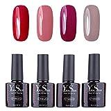 Y&S Soak Off Gel Nail Polish Lot de vernis gel LED UV pour Nail Art - 4 couleurs # 5