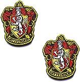 Harry Potter House of Gryffindor Hogwarts Crest a todo color sujetador gancho y bucle respaldo emblema bordado parches conjunto apliques insignia para abrigo chaqueta mochila sombrero gorra