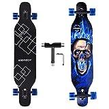 Best Longboard Skateboards - Slendor Longboard Skateboard 42 inch Drop Through Deck Review