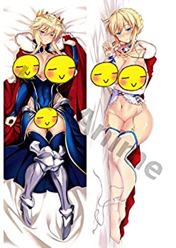 HHLAnime Fate/Grand Order FGO Altria Pendragon Saber 59in x 19.7in Dakimakura Pillow Case 2-Way Tricot Long Hug Body Pillowcase Soft Plush Cushion Cover Pillowcover