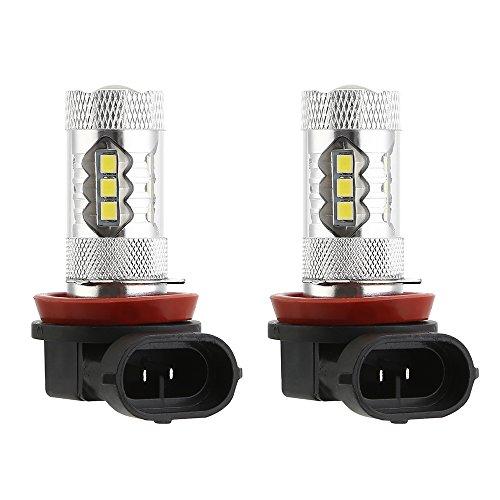 KT SUPPLY 2 stuks auto LED mistlampen Canbus H8 H11-16 SMD-80W-6000K wit, Duirna DRL 1500LM 12V DC levensduur 50.000 uur