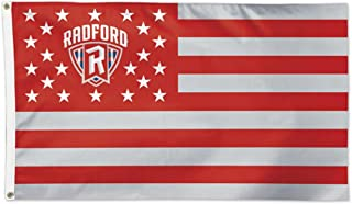 WinCraft Radford University Highlanders Deluxe Flag, Patriotic Stars and Stripes Edition, 3x5ft