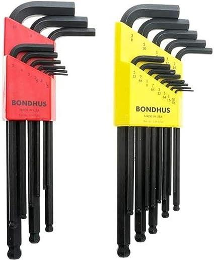 brazo largo Bondhus 16906/7//64/con extremo de bola llave Allen de punta allen con Briteguard acabado Tagged y barcoded