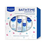 Mustela Bathtime Essentials Gift Set, 4 baby bathtime products with natural Avocado Perseose, Gentle, Safe and Hypoallergenic