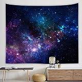 KHKJ Galaxy Tapiz psicodélico para Colgar en la Pared Galaxia Decorativa patrón Espacial Alfombra de Pared tapices Decorativos para el hogar A6 95x73cm