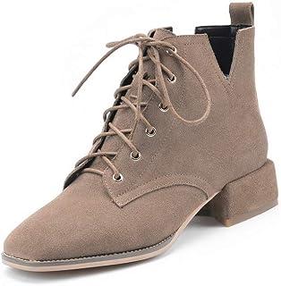 BalaMasa Womens Dress Fashion Solid Urethane Boots ABM13291