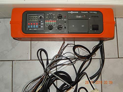VIESSMANN Trimatik 7410 068-L Heizungsregler mit Digitalschaltuhr Kesselfühler und alle Kabel mit Adapter, geprüft, funktionsfähig in gutem Zusta