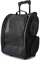 OxGord's Pet Carrier Rolling Backpack