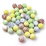 Shiwen 20 piezas de 16 mm de juego de pinball máquina de ganado pequeñas canicas Pat cuentas de vidrio consola de bola de rebote crema (color : bolsa de Opp)