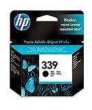 HP 339 C8767EE, Negro, Cartucho Original de Tinta, compatible con impresoras de inyección de tinta HP Deskjet 5740, 6520, 6840, 6843, 9800, Photosmart 2610, 8150, 8450, 8750, Officejet 7310, K7100