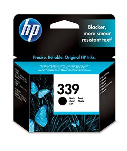 HP 339 C8767EE Cartuccia Originale, 860 Pagine, per Stampanti a Getto di Inchiostro HP Deskjet 5740, 6520, 6840, 6843, 9800, Photosmart 2610, 8150, 8450, 8750, Officejet 7310, K7100, Nero