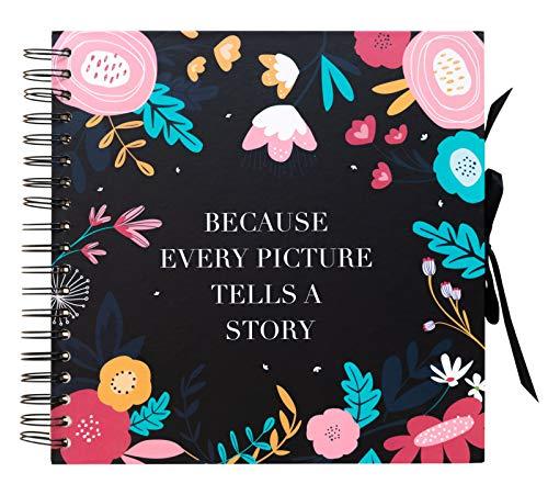 Grupo Erik Blummen Album Foto Scrapbook 40 Pagine Bianche, 26x26 cm