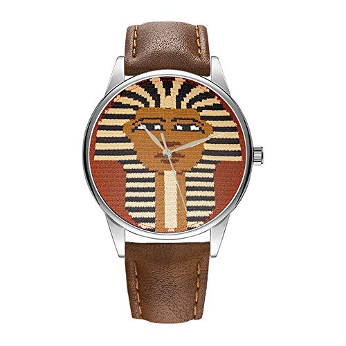Reloj de pulsera para hombre, color marrón, movimiento de c