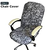 Melaluxe Office Chair Cover - Universal Stretch Desk Chair Cover, Computer Chair Slipcovers (Size: L)
