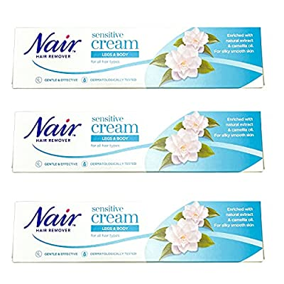 Nair Hair Removal Cream Sensitive Legs & Body 80ml - Pack of 3 from LE LTD