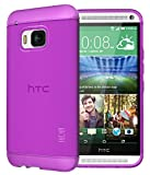TUDIA HTC One M9 Funda, Ultra Delgado Lite TPU Caso de Parachoques de protección Funda Carcasas para HTC One M9 (Púrpura)
