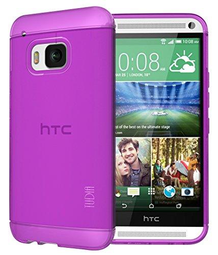 TUDIA LITE TPU Cover per HTC One M9 Smartphone Ultra Slim (viola)